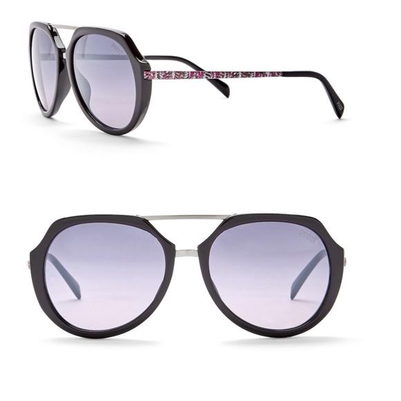 966e181eae Emilio Pucci 56mm Metal Sunglasses new!